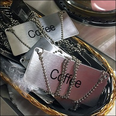 Maine Source Coffee Dog Tags Feature