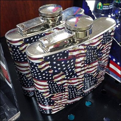 Patriotic Hip Flask Feature