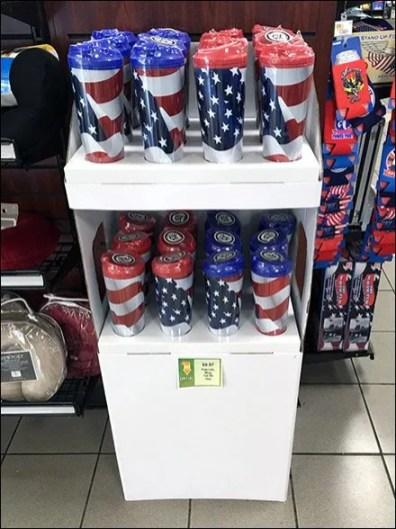 Patriotic Mug Corrugated POP 1