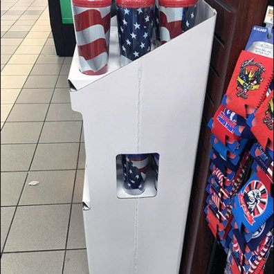 Patriotic Mug Corrugated POP 3