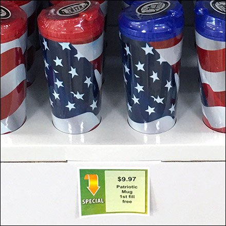 Patriotic Mug First Fill Free Feature 1