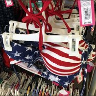 Patriotic Swimwear Merchandising Array 1