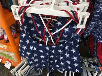 Patriotic Swimwear Merchandising Array 3