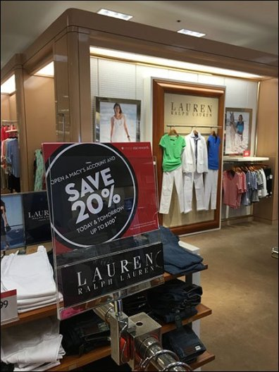 Ralph Lauren Branded Sale Sign Holders 1