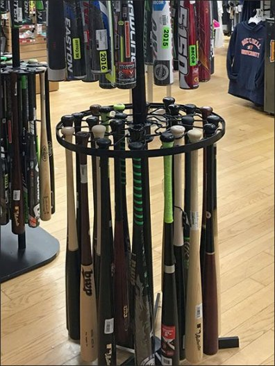 Branded Baseball Bat Merchandiser