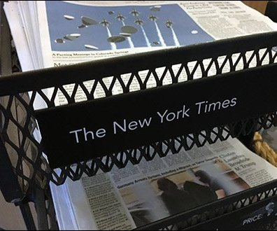 StarBucks Top-Dog Newspaper Rack Display