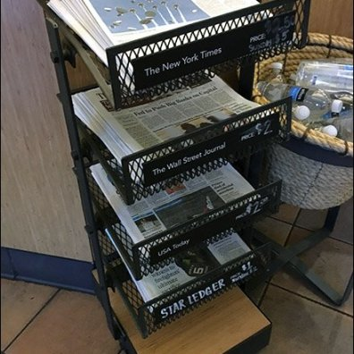 StarBucks Top-Dog Newspaper Display Rack