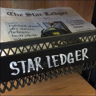 StarBucks Top-Dog Newspaper Display Rack Feature