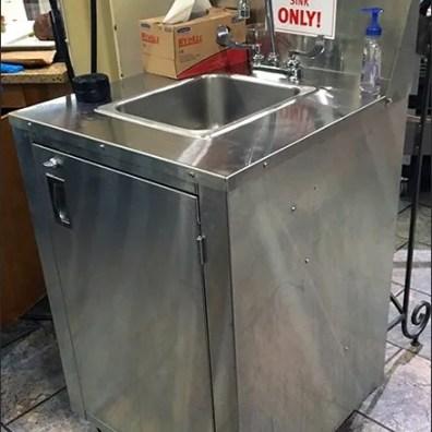 Wegmans Portable Hand Wash Sink 2