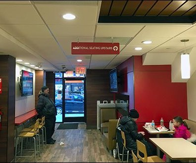 Wendys Offers Additional Seating Upstairs