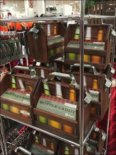 Wood 6-Pack Bottle Carry Merchandising 1