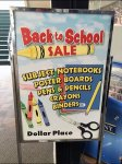 Back-To-School Easel Dollar Place Ayx