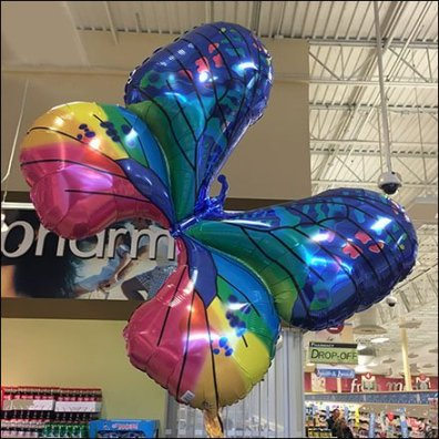 Butterfly Inflatable in Weis Floral Feature