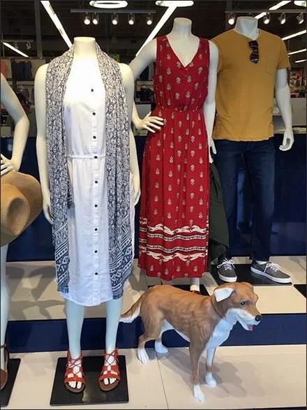 Dog Is Mannequin's Best Friend In Retail Tableau