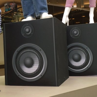 Escalator Drive-By Speaker Visual Merchandising Feature