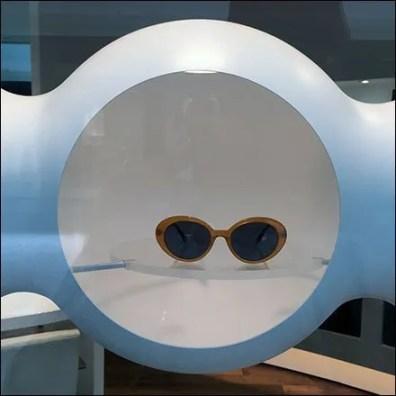 Futuristic Sunglass Niches Ceiling-Hung