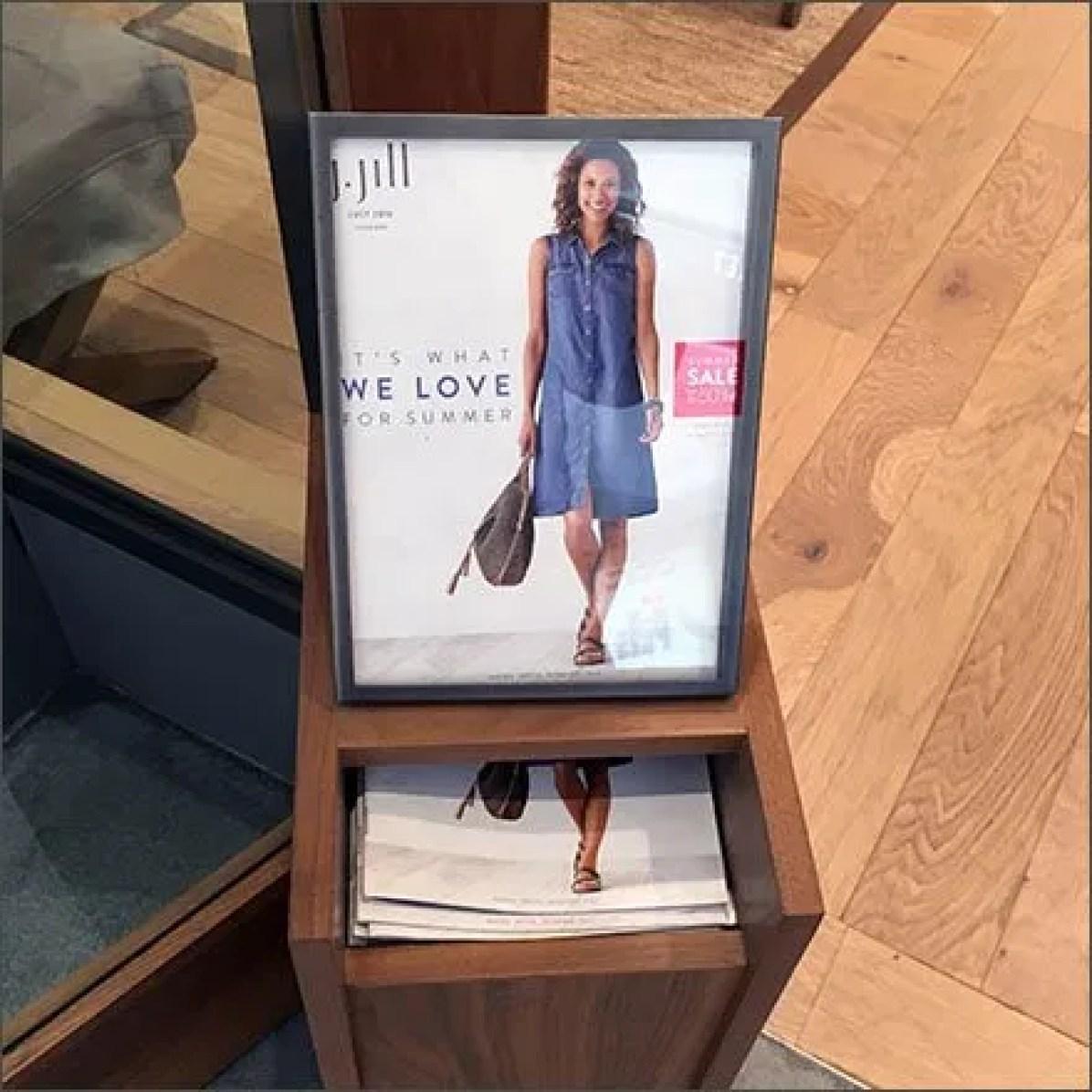 J Jill Catalog Literature Holder Feature