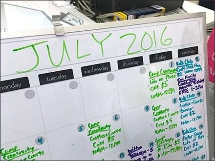 Michaels July Crafts Calendar 3
