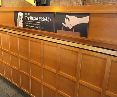 Panera Bread Rapid Pick-Up C-Channel Sign 1