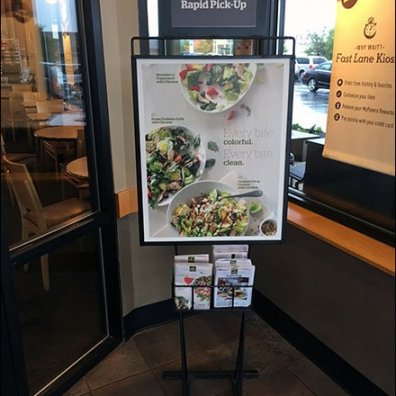 Panera Rapid Pickup Menu Catering Entry Sign 1