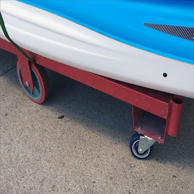 Pelican Kayak Cart Wheels Closeup Feature