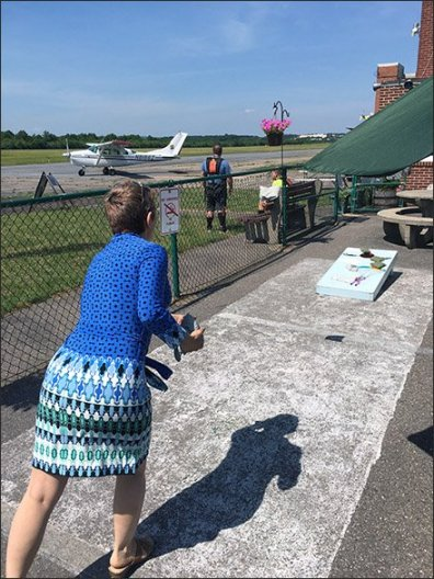 Pocono Skydivers Waiting Area Bean Bag Toss Main