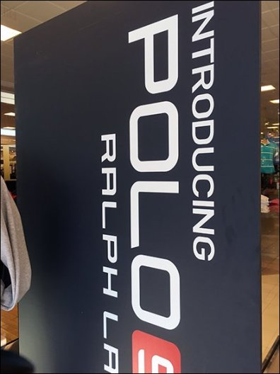 Polo Sport Freestanding Vertical Signage 3