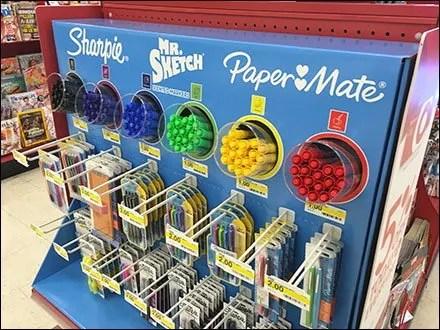 Sharpie Mr Sketch PaperMate Back-to-School Half Display 2