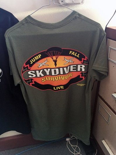 Skydiver T-Shirt Merchandising Clothes Hanger 3