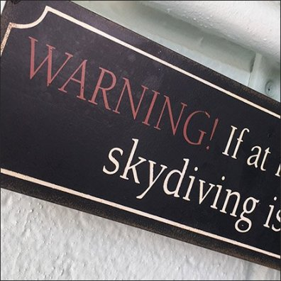Skydiver Warning Feature