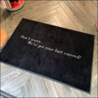 Spanx We've Got Your Butt Covered Welcome Mat Feature