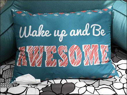 Wake Up And Be Awesome Dorm Shop Pillow Main