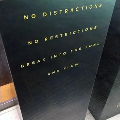 Adidas DeliversNo Distractions No Restrictions