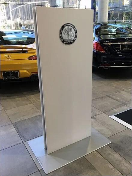 Vertical Sign Store Fixtures - Affalterbach AMG Branding At Mercedes Benz Manhattan