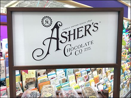 Asher's Cocolate Co Display Rack Aux