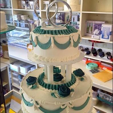 Bakery Delight Engagement Ring Wedding Cake Topper Main