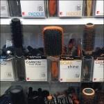Hairbrush Holster for Shelf-Edge Bulk Bin Merchandising