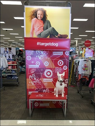Bullseye as Pose and Post #TargetDog Mascot
