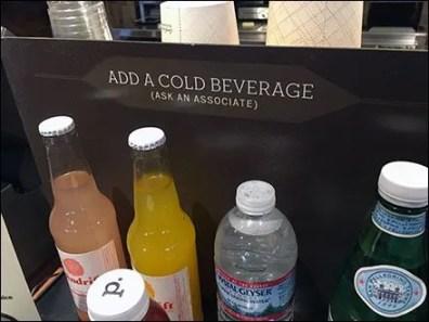 Cold Beverage Here Coil Clip Sign Holder
