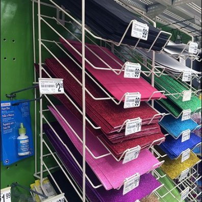 Declined Foam Sheet Rack 2