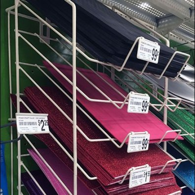 Declined Foam Sheet Rack 3