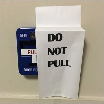 Do Not Pull Alarm Main