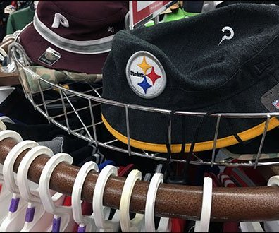 Fenced Circular Cap Rack In Apparel 2