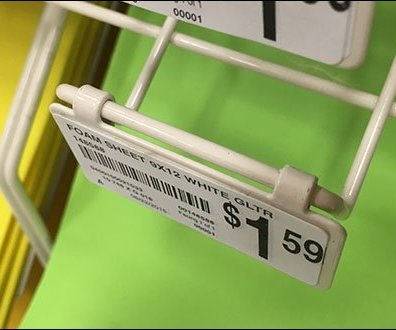 Foam Sheet Rack Flip_Front Metal Plate Label Holder 3