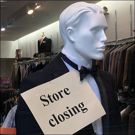 Formal Black Tie Store Closing Feature