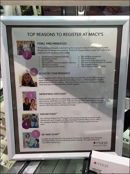 Macy's Bridal Registry Reasons Spelled-Out