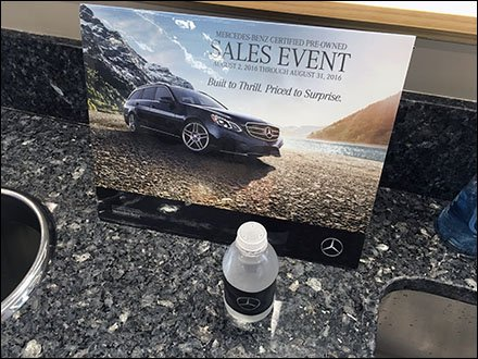 Mercedes Benz Branded Spring Water