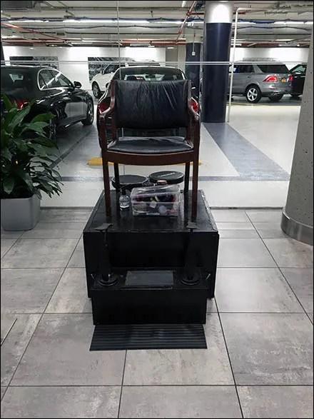 Mercedes Benz Manhattan Shoeshine Station 1
