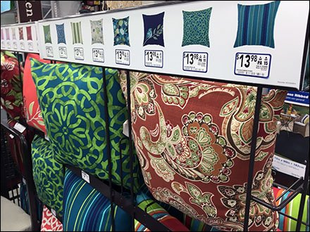 Patio Furniture Pillow Color-Coded Picture Pricing