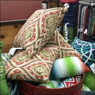 Labor Day Planter and Patio Pillow Display Two-fer
